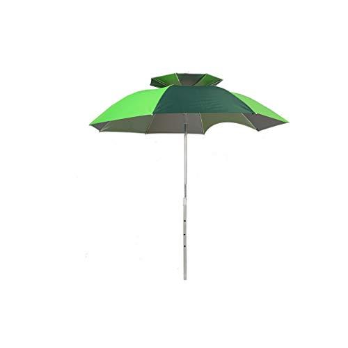 Sombrillas Paraguas de Pesca / 2.2/2.4 m/Doble/Universal Colgante/Plegable/Lluvia/Secado/UV/Paquete de vajilla (Color : J, Size : 2.2M)