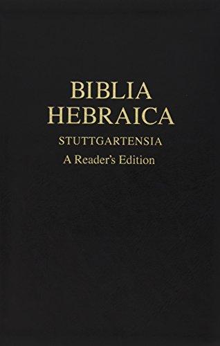 Biblia Hebraica Stuttgartensia: A Reader