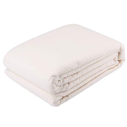 Tosnail 72-Inch x 90-Inch Soft Natural Cotton Batting for Quilts