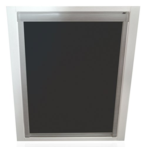 Unbekannt Verdunkelungsrollos für Roto Fenster - Profilfarbe Silber - Sun Collection (auch mit weißen Profilen erhältlich)