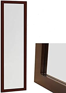 ProDecor Quality Furniture Wood Frame Over The Door Mirror -Wall Mount Full Length Mirror - Wooden Frame Dressing Wall Mirror - Size 14