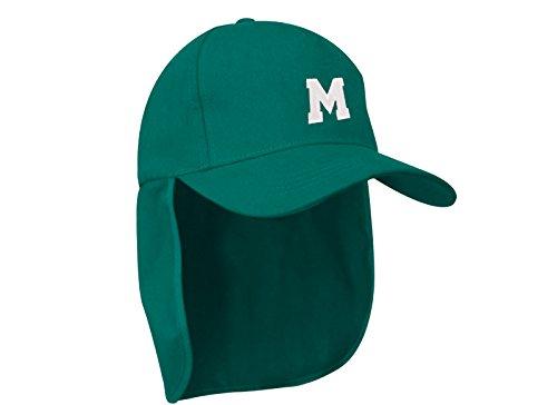 MFAZ Morefaz Ltd Junior-Legionär-Stil Jungen Mädchen Mütze Baseball Nackenschutz Sonnenschutz Cap Hut Kinder Kappe A-Z Letter (M)