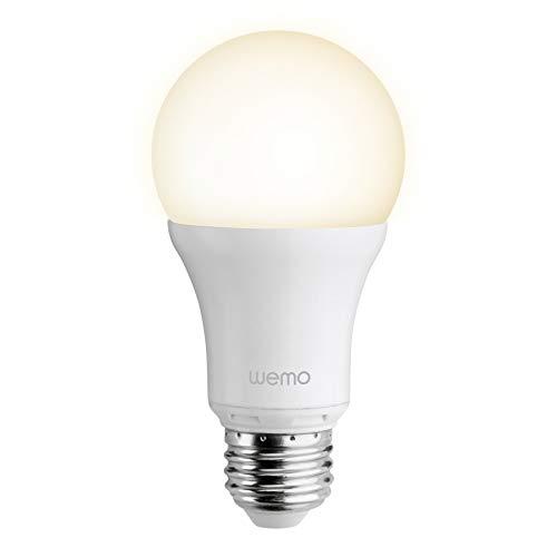 Belkin WEMO F7C033vfE27 - Bombilla WEMO Smart LED (domótica, A19, Edison 27)