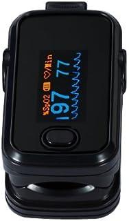 Dedo oxímetro SPO2 del pulso y monitor de ritmo cardíaco Negro - equipo de diagnóstico médico de calidad profesional. Utilice adultos y niños y bebés pediátricos