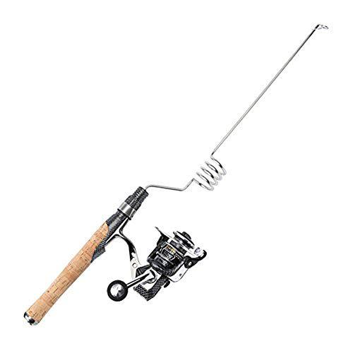 Emmrod Elastic Fishing Rod and Reel Combos 1000 Type All Metal Spinning Wheel Cork Handle Sea Pole Ultra Short Portable Fishing Rod MZ-4C-SG