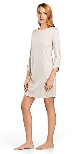 Hanro Damen Florentine 3/4 Sleeve Gown Nachthemd, Moonlight, Large