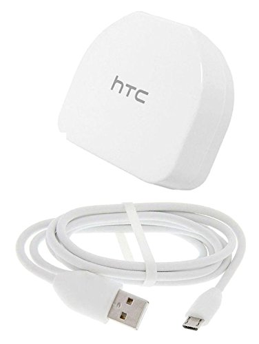 HTC Mains Wall Adaptor Charger Plug and Micro USB Cable - Black