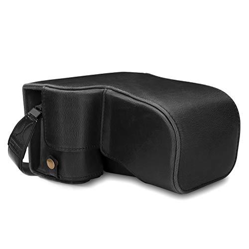 MegaGear Capa de couro para câmera MG1660 Ever Ready compatível com Sony Alpha A6400 (18-135 mm) - Preta