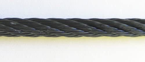 Black Powder Coated Galvanized Wire Rope f 8