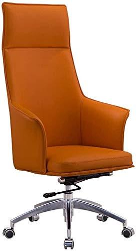 ZXNRTU Relájese cómodamente seguro Silla moderna de Ministerio del Interior de cuero vegano Conferencia Ejecutiva tapizado de diseño con estilo Silla de escritorio con respaldo medio ergonómico ajusta