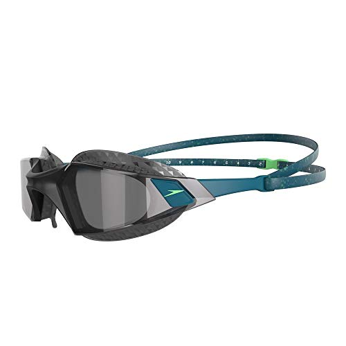 Speedo Aquapulse Pro Gafas de natación, Adult Unisex, Nordic Teal/Negra/Light Smoke, Talla única