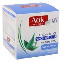 Aok Reichhaltige Nachtpflege mit Aloe Vera Regeneriert über Nacht 3x50ml