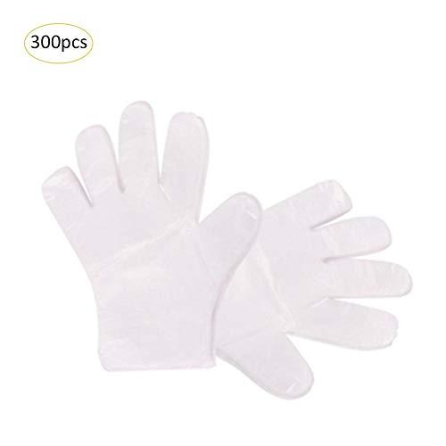 300 guantes desechables de plástico transparente para niños, para uso en casa, cocina, restaurante