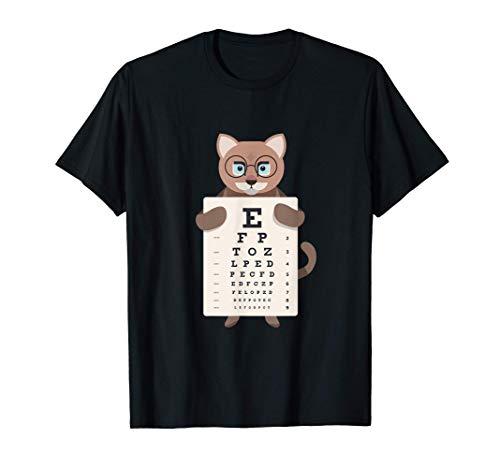 Gafas de gato óptico oftalmólogo examen de ojo de pizarra Camiseta