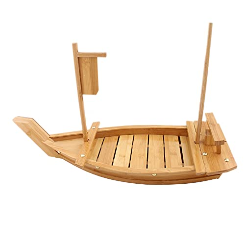 Bandeja de sushi para barco de sushi, de bambú, 50 cm, para restaurante