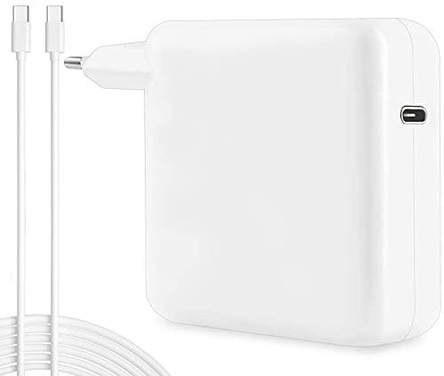 """96W USB C Chargeur avec 2M USB C Câble pour Macbook Pro 16"""" 15"""" 13"""" (2016 2017 2018 2019 2020) Macbook Air (2018 2019 2020) iPad Pro et Plus, Il Peut remplacer Votre Chargeur USB C 87W 61W 30W, Blanc"""