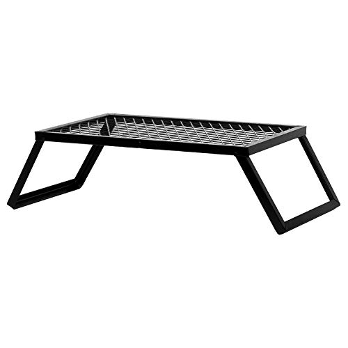 Portable Heavy Duty Over Fire Camp Grill for Open Flame Cooking,Folding Campfire Grill