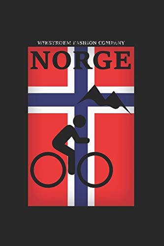 Wikstroem - Notes: Norwegen Berge Fahrrad Mountainbike - Notizbuch 15,24 x 22,86 Punktgitter