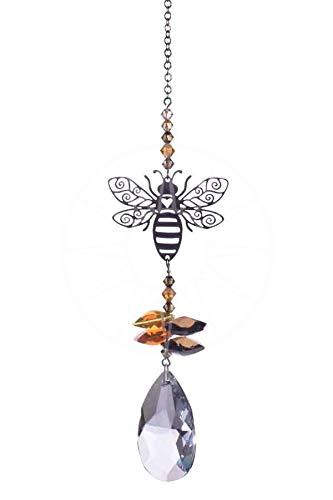 Wild Things Attrape-soleil en cascade de cristal Swarovski + Amande 38 mm - Motif abeille