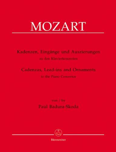 BARENREITER BADURA-SKODA PAUL - CADENZAS, LEAD-INS AND ORNAMENTS TO THE PIANO CONCERTOS BY W.A. MOZART Classical sheets Piano