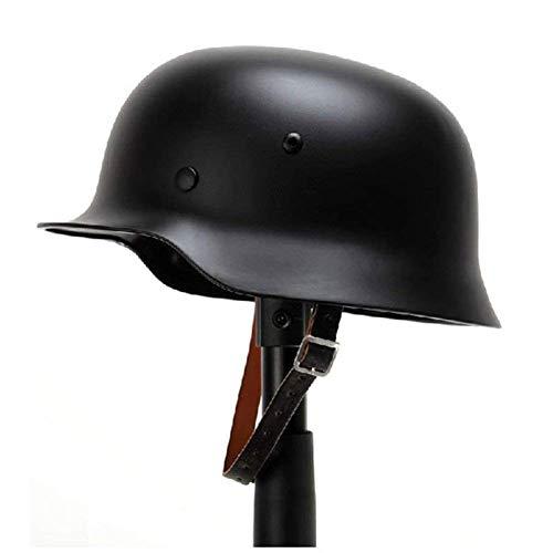 Kayheng WW2 German Elite WH Army M35 M1935 Casco de Acero Casco de Seguridad de Segunda Guerra Mundial con Forro de Cuero Stahlhelm