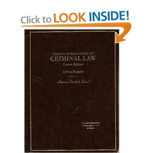 Cases and Materials on Criminal Law (text only) 4th (Fourth) edition by J. Dressler