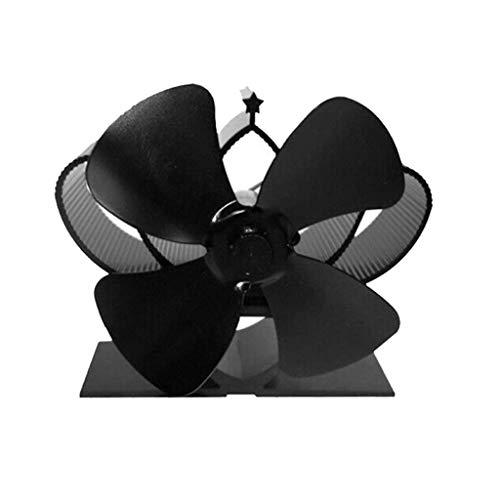 Geef nooit op Hot Blast Stove Fan Hot Blast Fornuis Ventilator Open haard Hout Fornuis Ventilator Warmte Afvoer Rustige Warmte Drive Warmte Power Milieubescherming Efficiënte Ventilator 4 Stuks Ventilator Zwart