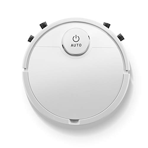 Intelligent Sweeping Robot, Smart Robot Vacuum Cleaner Rechargeable Vacuum Cleaner Three-In-One Sweeping and Mopping Machine (White) Dining Features Kitchen Robotic Vacuums
