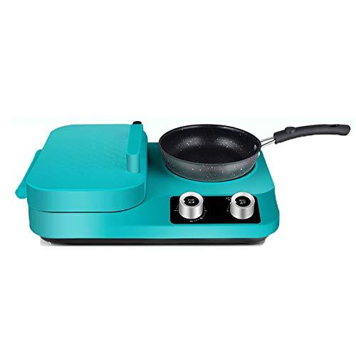 HYISHION Panini Press, Grill, Waffle Maker - Aparato de Cocina eléctrica 3 en 1 para Comidas rápidas, Hamburguesas, sándwich Gourmet con Platos antiadherentes de Chef Buddy,B