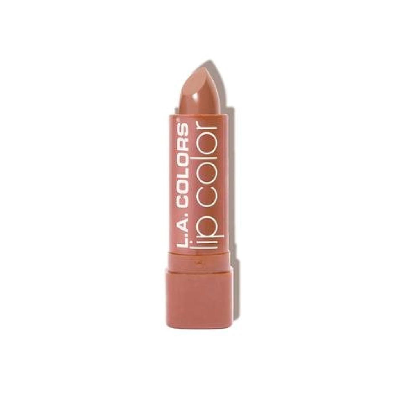 事業内容ノーブル反応する(3 Pack) L.A. COLORS Moisture Rich Lip Color - In The Buff (並行輸入品)