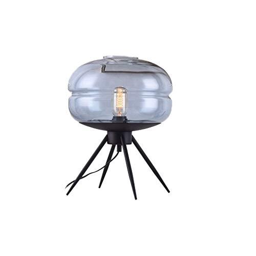 ZLSP Dormitorio de la lámpara de mesa lámpara de pie mesa de lectura lámpara de cristal de hierro moderna Lámpara de mesa (Color : B)
