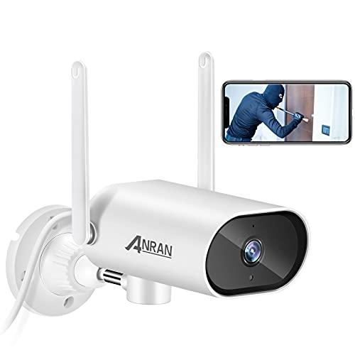 ANRAN Cámara de Vigilancia IP 1080P HD Inalámbrica, Cámara Seguridad Pivotante de 180° para Interiores Audio Bidireccional con Visión Nocturna y Detección de Movimiento 4X Zoom Digital Acceso Remoto