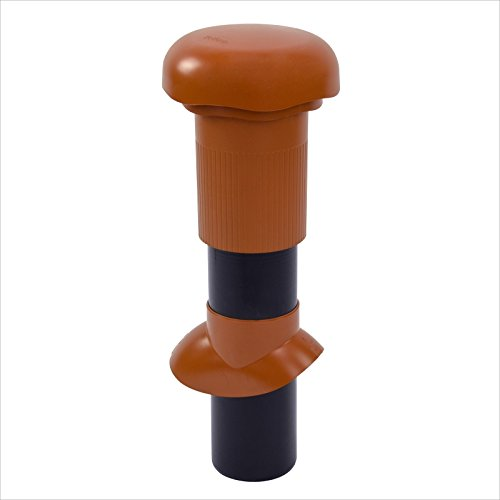 Klöber Venduct Belüfterrohr Dachdurchführung DN 100 mm Rot Orange Dachentlüftung Abluftrohr Entlüfterrohr Dachentlüfter Raumentlüfter