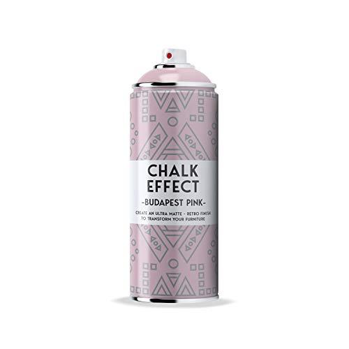 COSMOS LAC Chalk Effect Spray - Hochwertige Kreide-Sprühfarbe - perfekt für DIY Projekte (Budapest pink)
