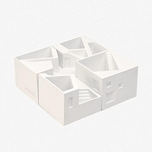 Titular de la pluma de la construcción, organizador de escritorio multifuncional para escritorio, soporte de lápices para estudiantes, adornos, caja de almacenamiento de oficina. Moda ( tamaño : SET )