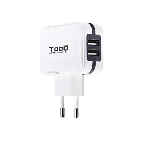 TooQ TQWC-1S02WT - Cargador pared 2 x USB 5V - 3.4