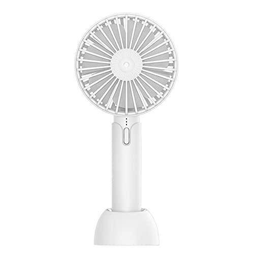 Mini Ventilador De Mano,Ventilador PortáTil De Mano,Ventilador De Escritorio USB Recargable,Velocidad del Viento Ajustable En 3 Velocidades,para Hogar,Exterior Y Camping
