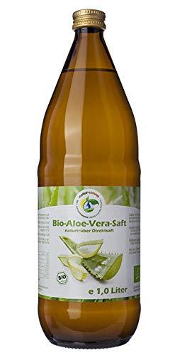 Bio Aloe Vera Saft 1L, naturtrüber Direktsaft, ohne Zuckerzusatz, vegan, kontrolliert biologischer Anbau, handfiletiert