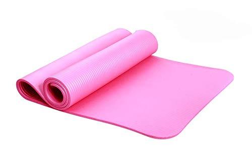 NAXIAOTIAO Dicke, Rutschfeste Yogamatte Umweltfreundliche Multifunktions-Sport- und strapazierfähige High-Density-Fitnessmatte,Pink