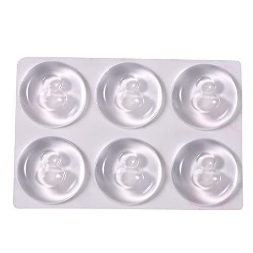 GLJYG Tope de puerta de goma transparente, diferentes tamaños, adhesivo sin costuras, anticolisión, protector de manija de puerta, redondo, 10 x 12