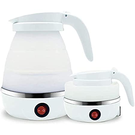 Silicone Travel Foldable Dual Voltage Electric Kettle 800ML Automatic heat prese