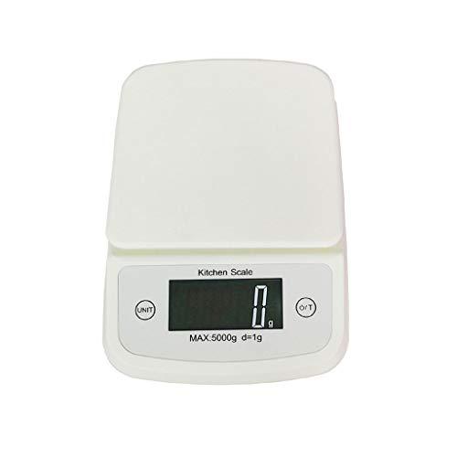 CWTC Básculas de Pesaje de Cocina Digital 5kg / 1g, Báscula Electrónica de Alta Precisión Mini Báscula con Función de Tara de Pantalla LCD báscula electrónica (Size : 5kg/1g)