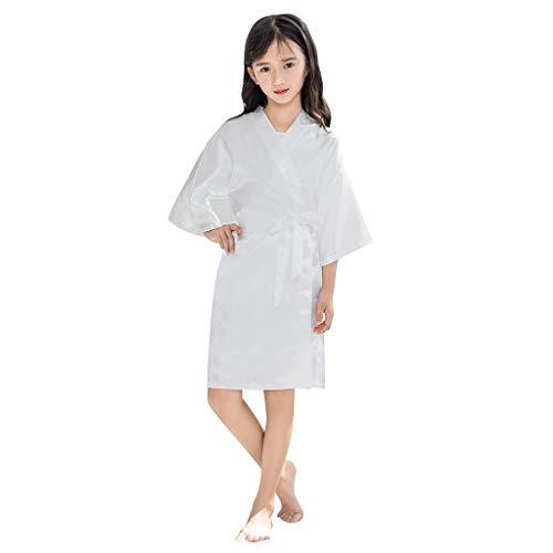 JUTOO Ropa de Dormir Ropa de Dormir Ropa de Dormir Ropa de Dormir Ropa de Dormir Batas de Kimono de satén para niños pequeños(4,6,8,10,12,14)