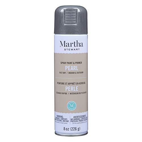 Martha Stewart Paint & Primer 8oz Spray Paint, Pearl Brushed...