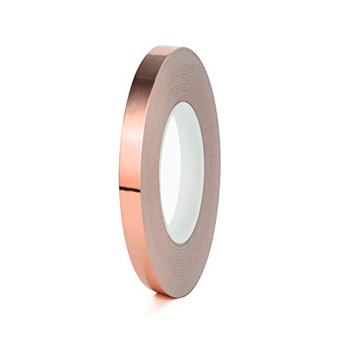 Lámina de cobre conductor cinta adhesiva, doble cara con adhesivo, papel, diseño...