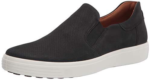 ECCO Men's Soft 7 Sneaker, Black, 9/9.5 UK, (43 EU)