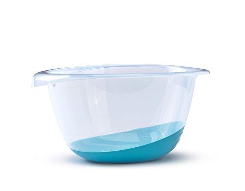 Whitefurze Premium - Ciotola, 6 l, colore: Verde acqua, plastica, Foglia di t, taglia unica