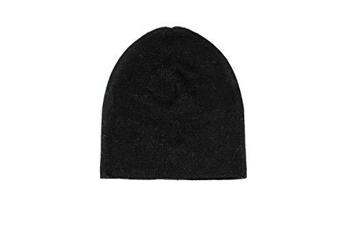 Annapurna Cashmere Edle Kaschmir Mütze aus 100% Kaschmirwolle, Handgewebt aus Nepal für Damen und Herren, schwarz