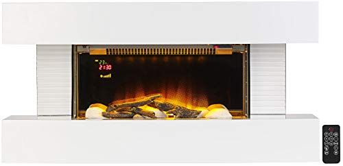 Carlo Milano Heizung: Design-Elektrokamin, 3D-Flammeneffekt, Wandmontage, 2.000 Watt, 81 cm (Elektrokamine Wand)