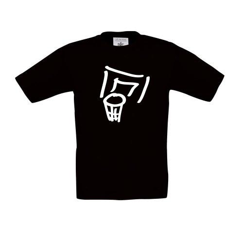 Basketball Korb, Kinder T-Shirt, Größe 152 - 164, schwarz